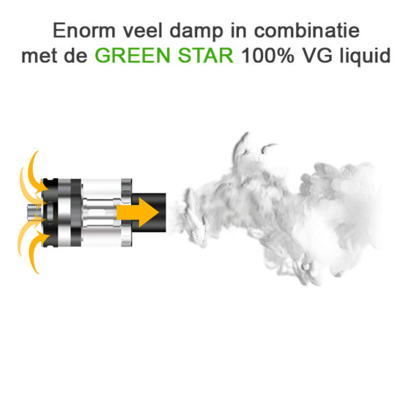 Aspire Atlantis EVO Clearomizer met 100VG Liquid