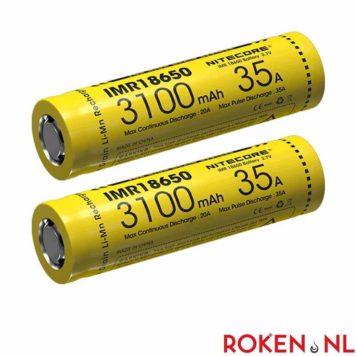 NITECORE 18650 batterij (2 Stuks)